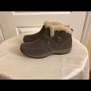 Easy Spirit 'Esskilift' Suede Faux Fur Ankle Boot